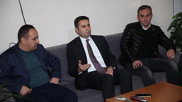 BAŞKAN EROĞLU'NDAN TÜRK EĞİTİM SEN'E ZİYARET