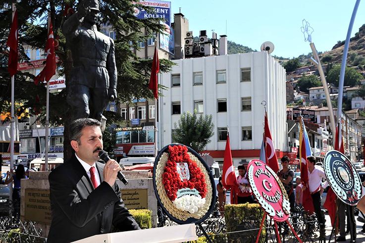 ATATÜRK'ÜN TOKAT'A GELİŞİNİN 99'UNCU YIL DÖNÜMÜ TÖRENLE KUTLANDI